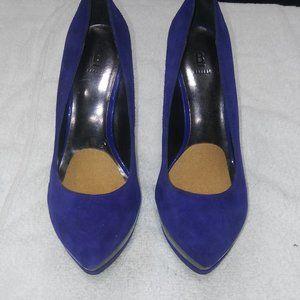 Bakers Tenley Purple Suede 5 inch Platform Heal